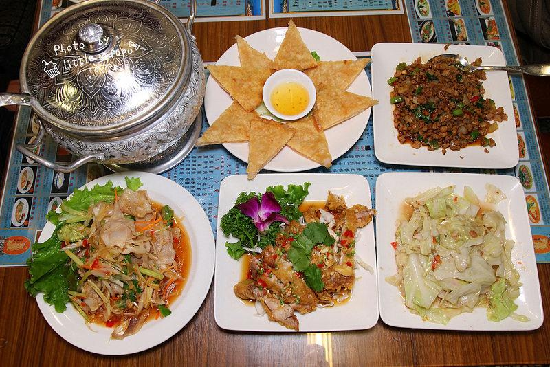 [彰化美食]泰東北,平價泰國料理(一人約200~400),月亮蝦餅真有料!椒麻雞腿外酥內軟!超下飯的打拋豬,餐點不遜色的平價餐廳。 @小腹婆大世界