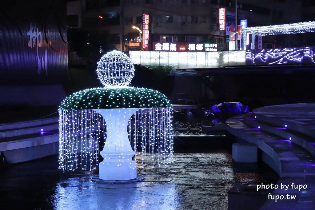 2017花漾柳川河岸光景藝術展點燈:音樂會+台中耶誕嘉年華(12/9~3/4)