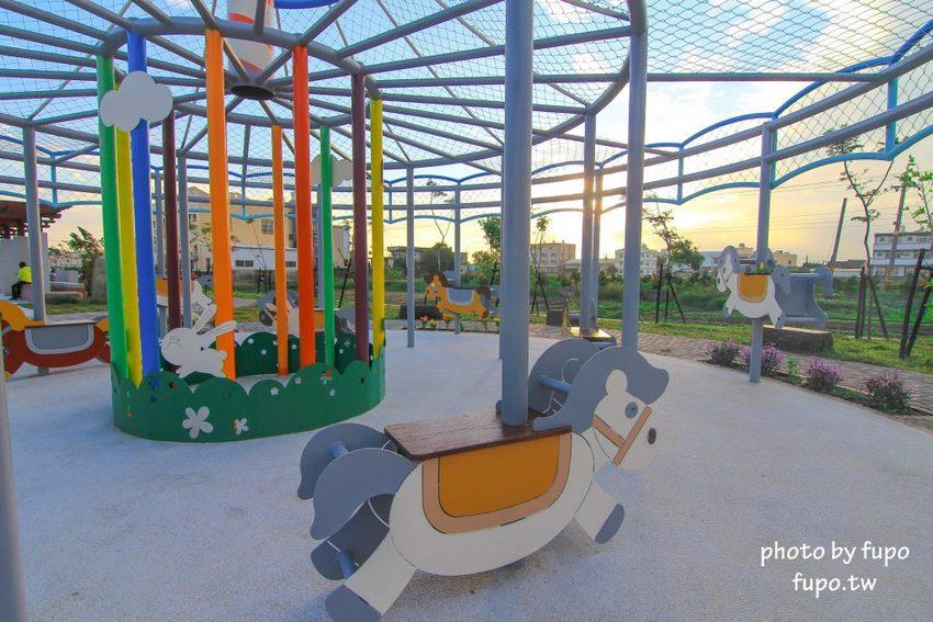 彰化好好玩~就像兒童樂園的旋轉木馬+空拍直擊清代古厝+大型復古彩繪牆緩如進入60年代~帥氣的龍騰公園打卡get!