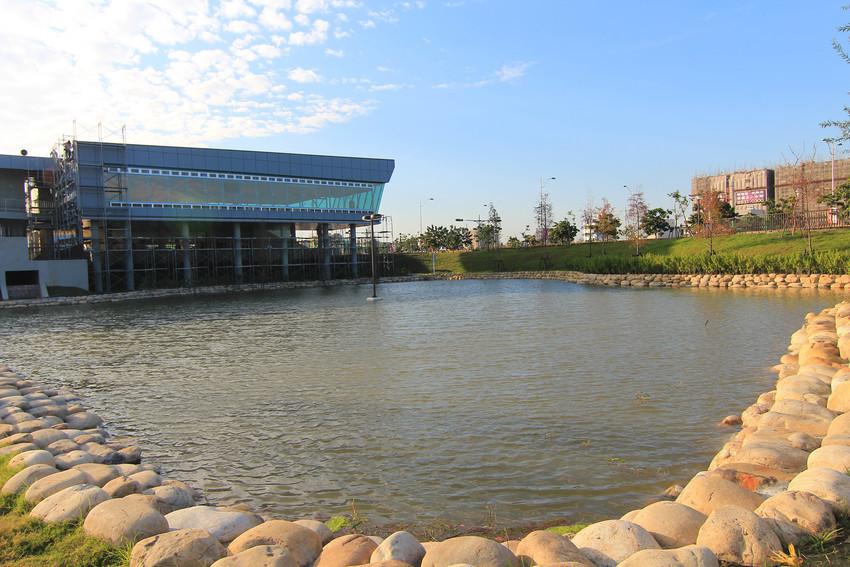 彰化員林》圓林園,圓林園滯洪池生態公園,有大草皮適合慢跑運動的公園