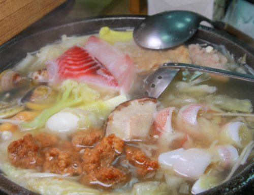 新北金山美食《 福緣火鍋~加油站旁的美味石頭火鍋,超新鮮海鮮,最後還可以煮粥,在地人推薦的美味。