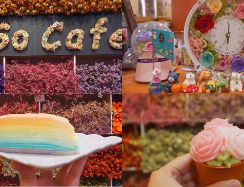 南投竹山|SoSo cafe~森林系甜點店,美麗花牆跟浪漫爆炸的花系甜品~來片彩虹漸層蛋糕吧!