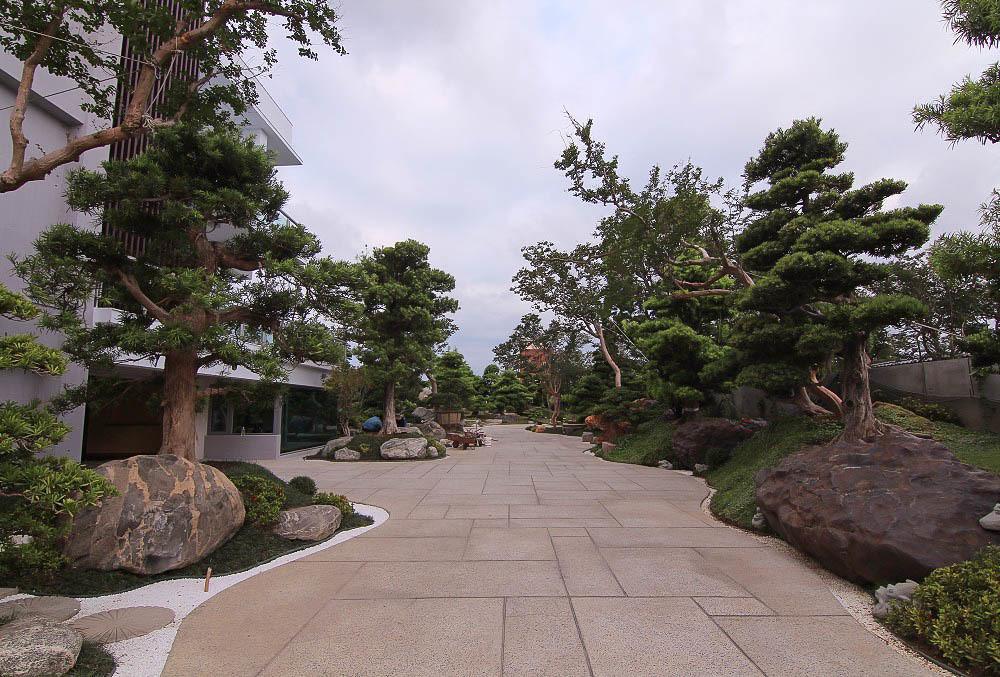 彰化田尾《台灣銘園庭園美術館:迷你版兼六園~免出國就可以享受日式庭院風:池塘倒影.綠意盎然~