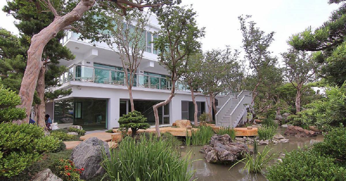 彰化田尾《台灣銘園庭園美術館:迷你版兼六園~免出國就可以享受日式庭院風:池塘倒影.綠意盎然~ @小腹婆大世界