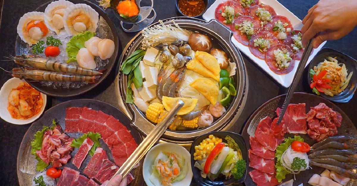 鮮!二個人也可以來吃的日式燒肉店~色鼎日式燒肉斗六店定食豪邁登場!滿滿的海味讓人無法自拔.. @小腹婆大世界