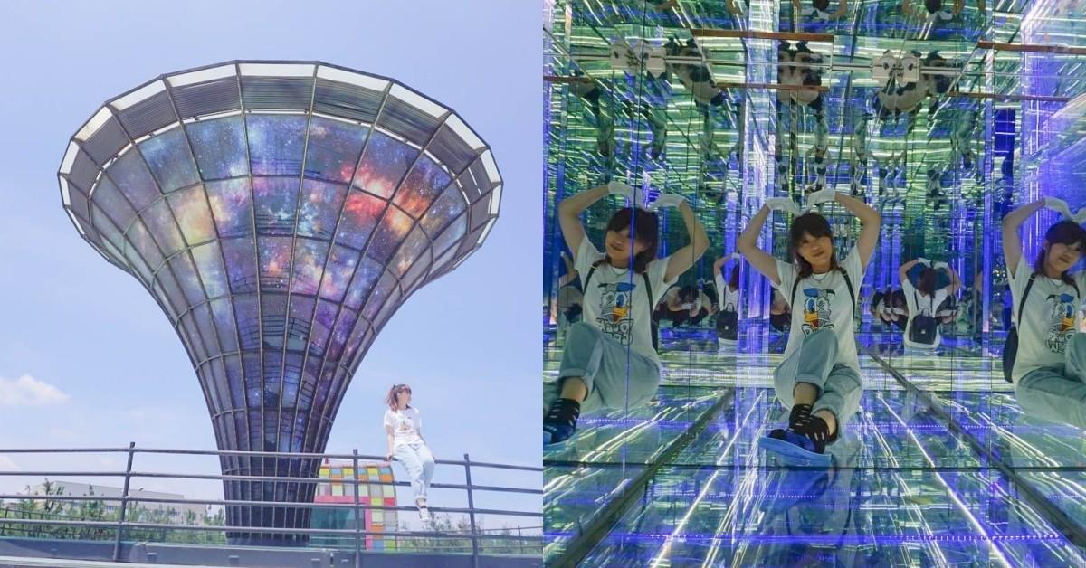 彰化海線室內景點|臺灣玻璃館 (世界唯一的玻璃媽祖廟):免門票親子室內景點、超夢幻的黃金隧道,巨大打卡點,多種親子DIY~ @小腹婆大世界
