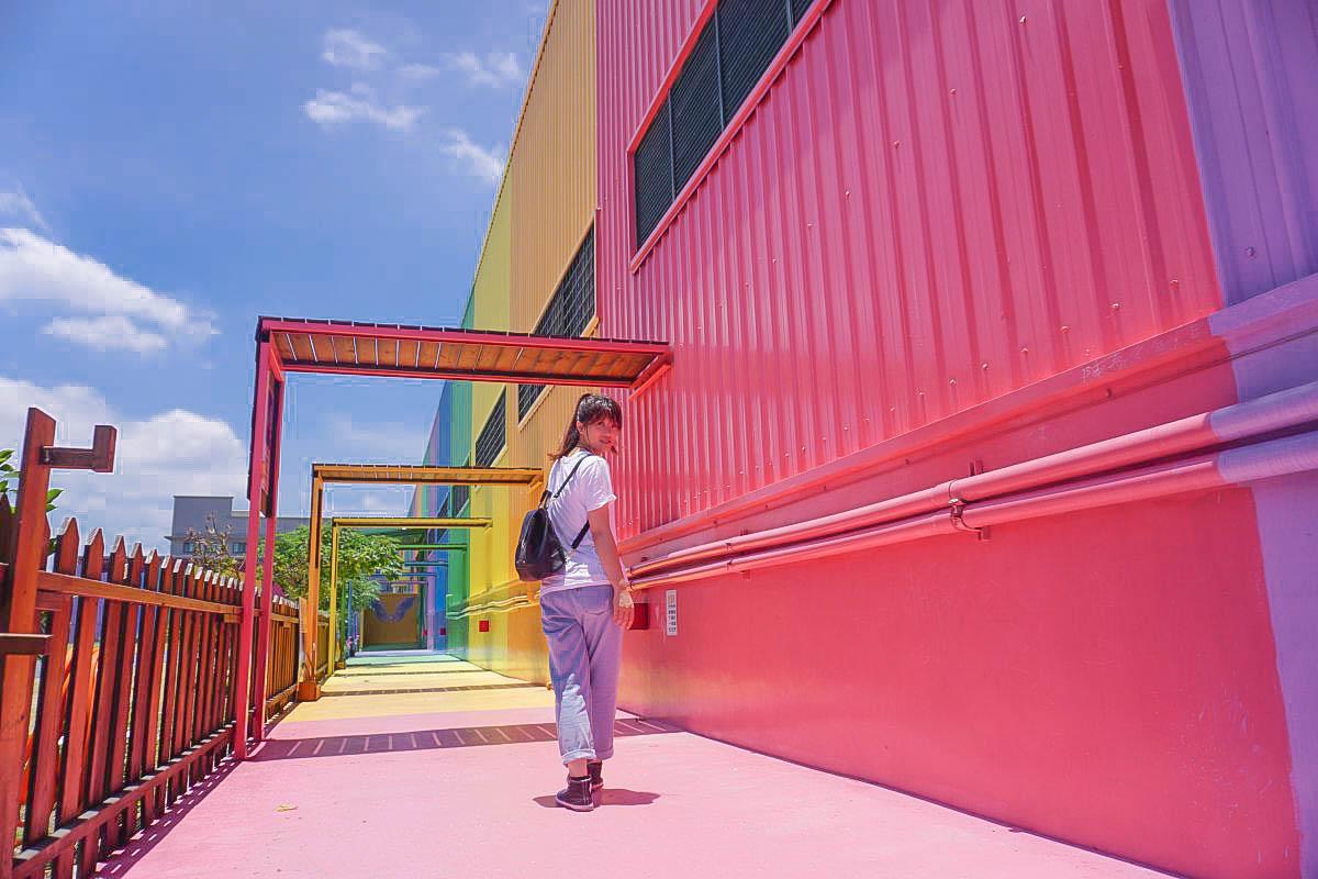 彰化鹿港緞帶王|超好拍,踏上彩虹~!IG熱門美拍~彰化大佛、希臘建築風,免費親子DIY,免門票,彰化海線好好玩!