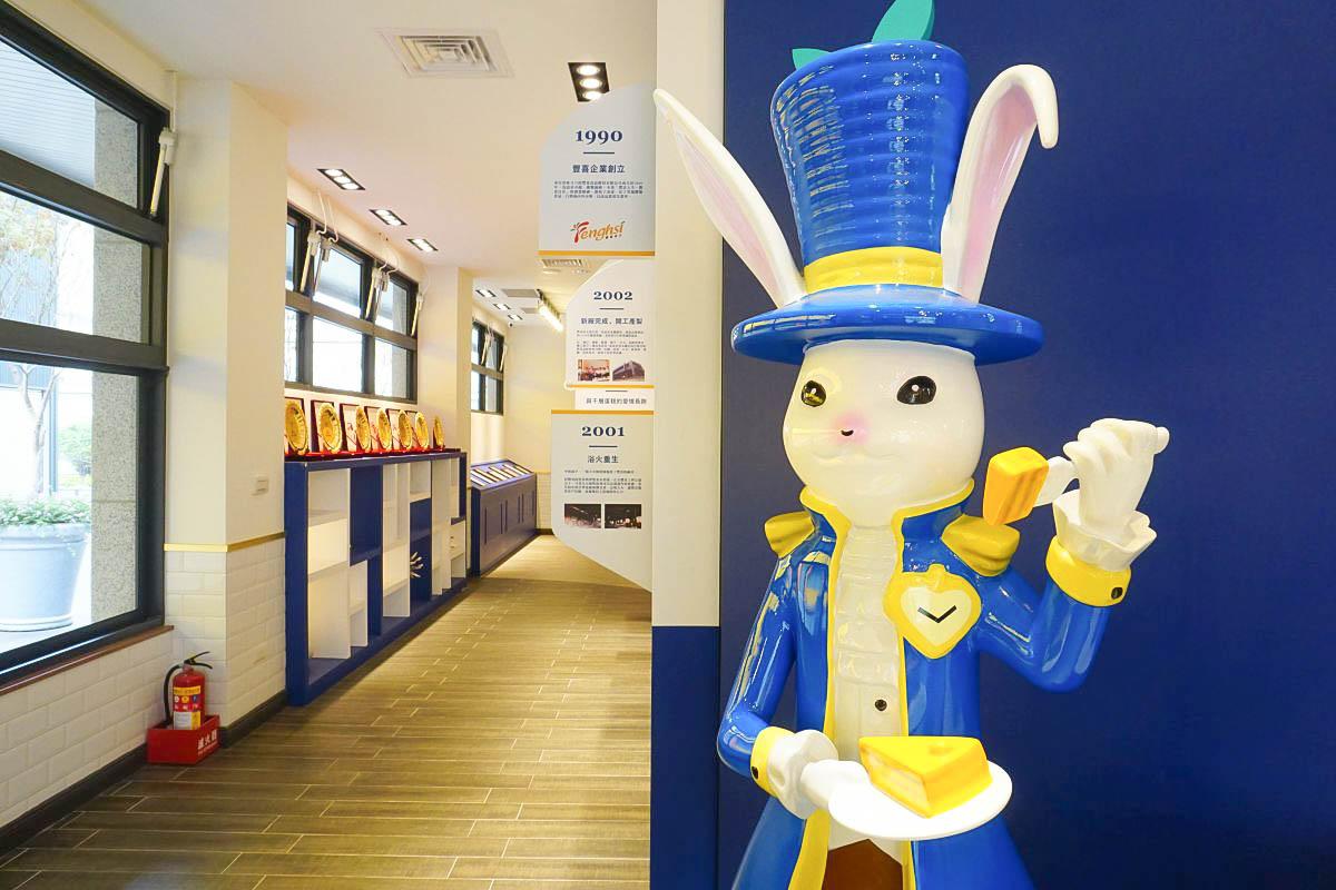 雲林塔吉特千層蛋糕大使館 斗六景點~白兔公爵的蛋糕城堡~巨大禮物、可愛雞蛋牆、捕獲可愛公爵,像冰淇淋的千層蛋糕。