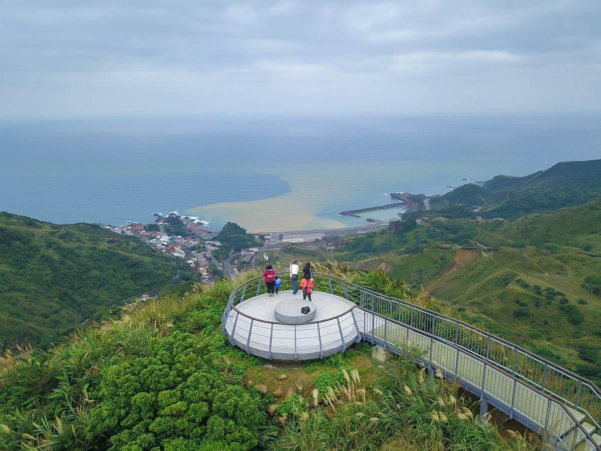 新北瑞芳景點》超短的觀海步道,報時山步道~無敵海景360度欣賞山海景緻,總長只有166m,連小朋友都可以輕鬆駕馭!