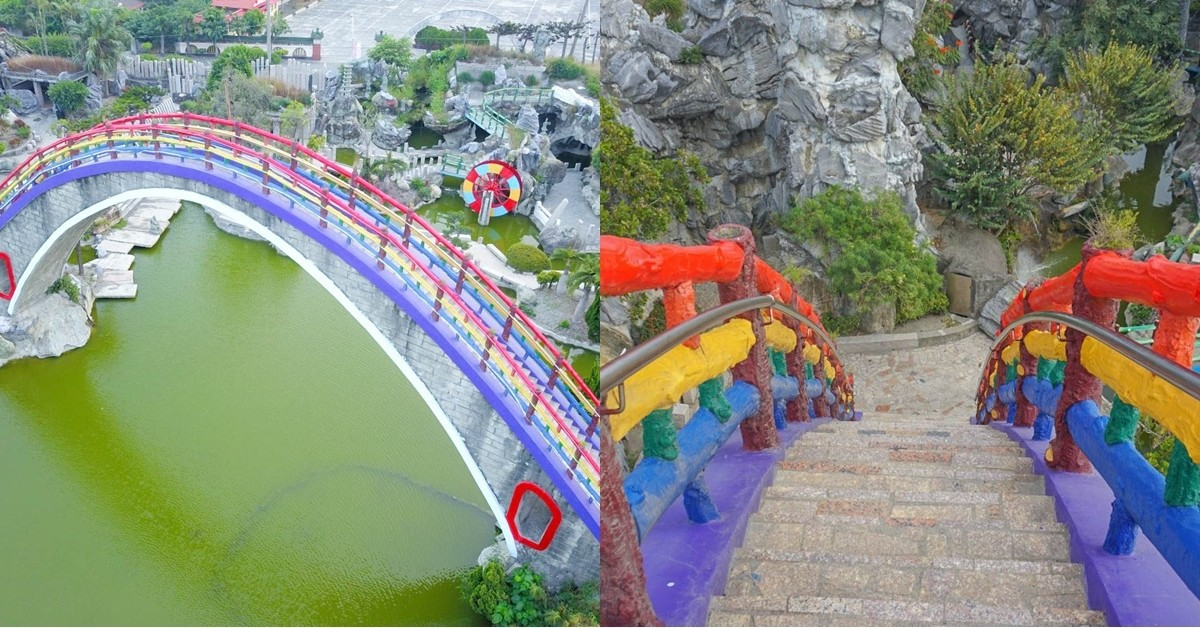雲林景點》全台最高彩虹迷宮!五年千歲公園,2公頃迷宮闖關探險囉,過山洞餵魚餵鴨子好好玩(懼高症注意 @小腹婆大世界