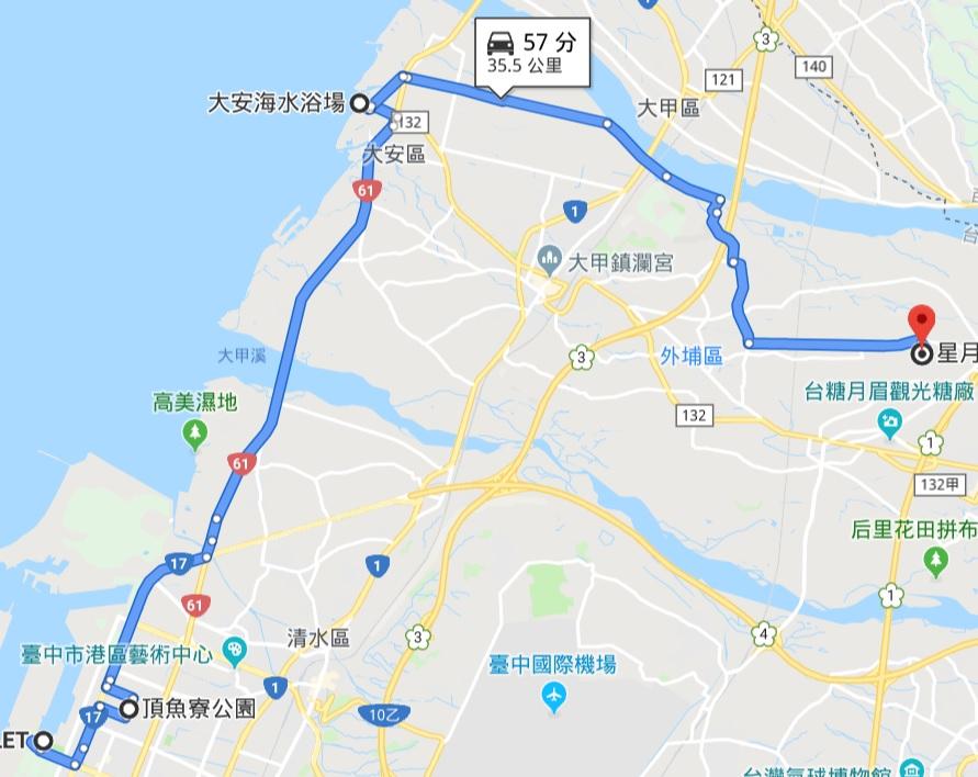 台中海線一日遊|超美海景摩天輪、雪白城堡、免費泳池沙雕展、可愛小鯨魚公園、沒有招牌甜點店、百萬夜景、泡腳池,從早玩到晚!