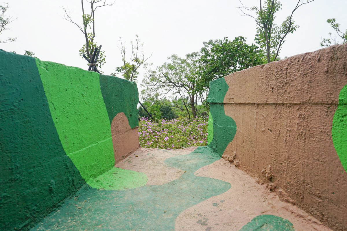高雄岡山一日遊》岡山之眼,88公尺的美麗琴弦天空廊道鳥瞰阿公店水庫之美,小崗山制高點觀景台,迷彩碉堡,砲台遺跡。