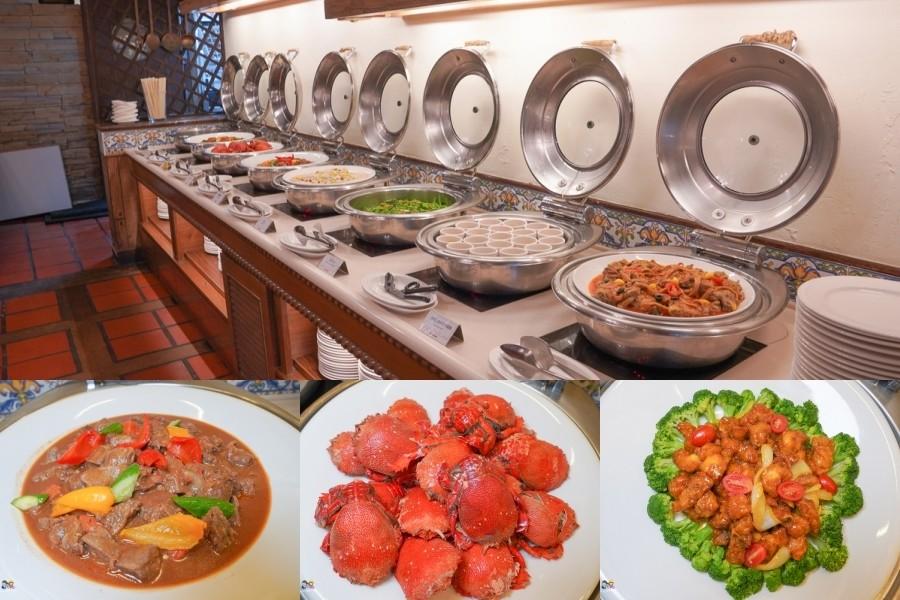 花蓮吃到飽|理想大地里拉餐廳Buffet・當地蔬食海鮮一次滿足,必吃鮮嫩烤牛肉、粉嫩牛肉湯、燙海鮮、啤酒無限暢飲、剉冰diy、零食摩天輪,吃好吃滿!