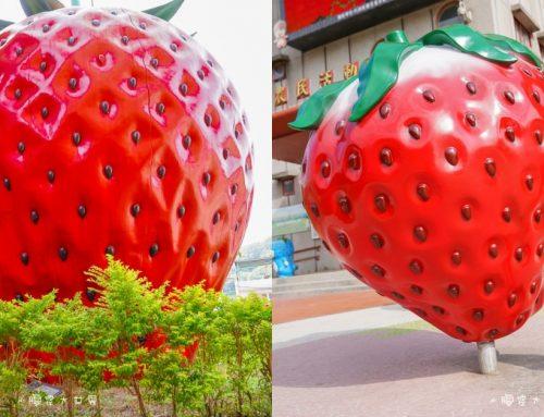 苗栗景點|大湖酒莊 ( 草莓文化館):草莓控出發囉!草莓王國🍓巨大三層樓草莓、等人高草莓,處處都是草莓~超特別的草莓香腸、草莓熱狗、草莓霜淇淋,必買伴手禮!