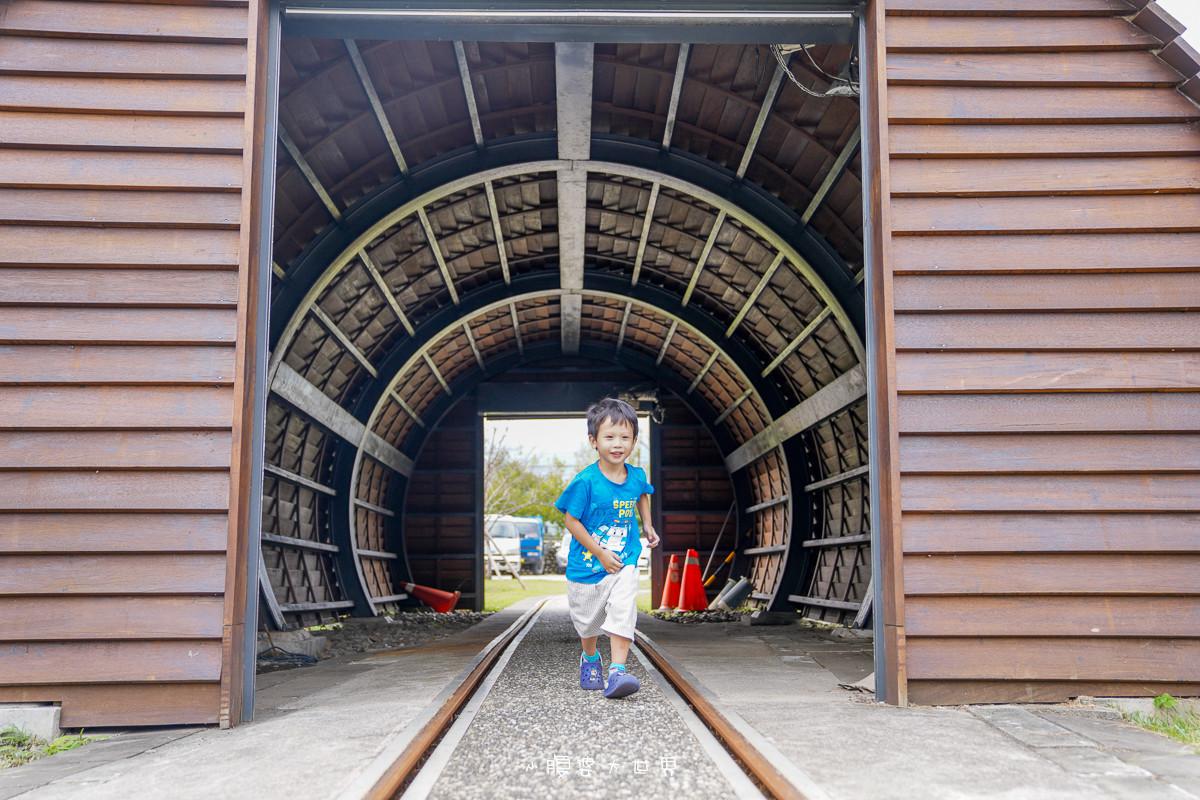 宜蘭三星》天送埤車站x免費景點~可以上車的Q版蒸氣火車、迷你隧道、火車軌道、復古火車站售票亭、鐵道迷必訪的超可愛小車站!