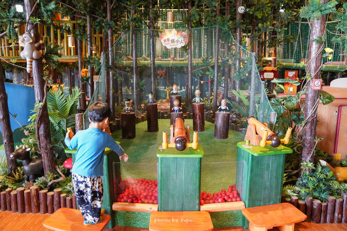 台中親子景點》木育森林麗寶門市,全台最大規模的體驗區,七大必玩主題,五十多種木製設施,大人也可玩