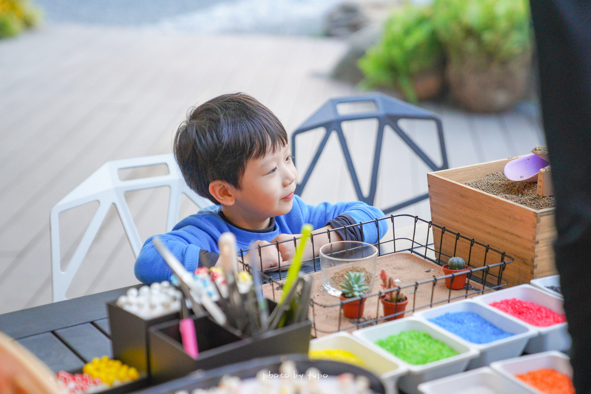 彰化田尾新景點 捌程小8親子cafe' (捌程親子園區):玩水、童話小屋、城堡旋轉溜滑梯、森林卡丁車、小朋友戶外健身房、親子多肉DIY,一秒飛日本的唯美景點~