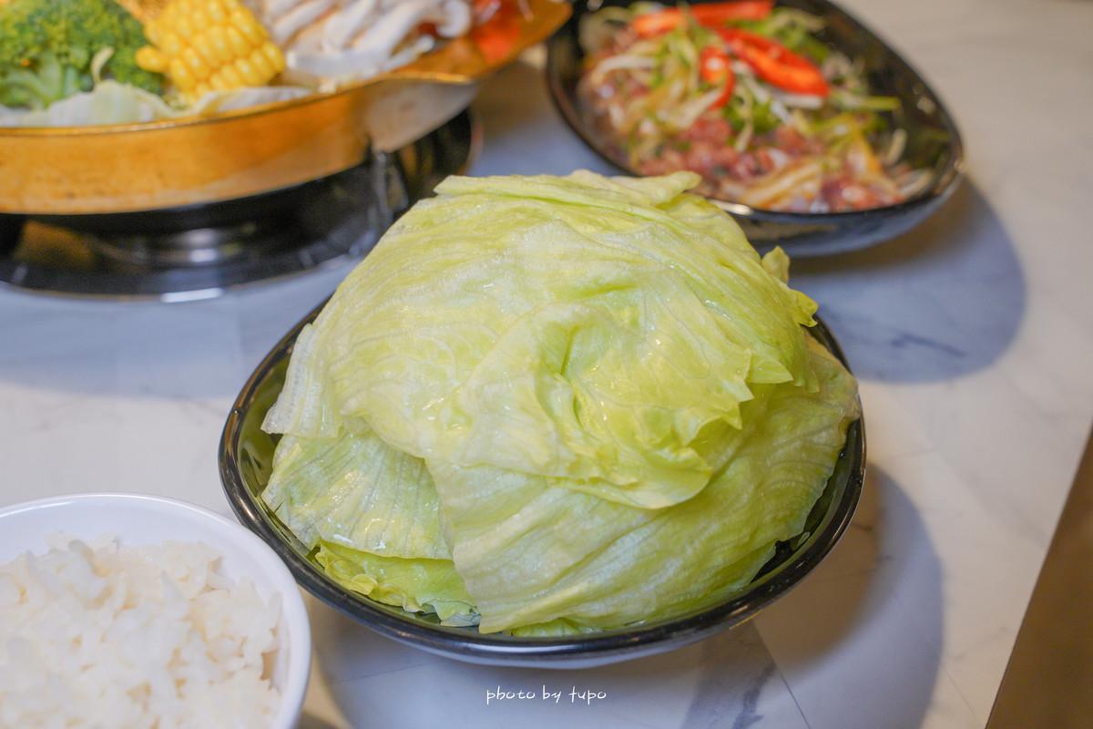 台中逢甲|銀鈎鍋物銅盤烤肉:萬八餐飲創新韓國品牌、現切肉盤、直送海鮮、大骨蔬果熬煮湯頭、菜單、生魚片、鍋物~