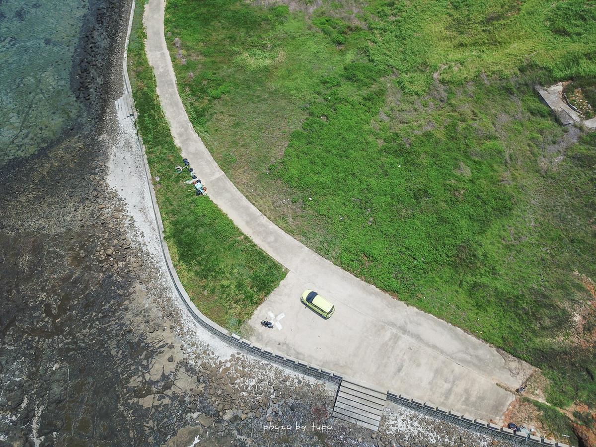 澎湖到不了的秘境|池西虎目滬(單心石滬):須注意潮汐表(退潮),貝殼路溼滑跌倒超危險,帶小孩請勿冒險前往。