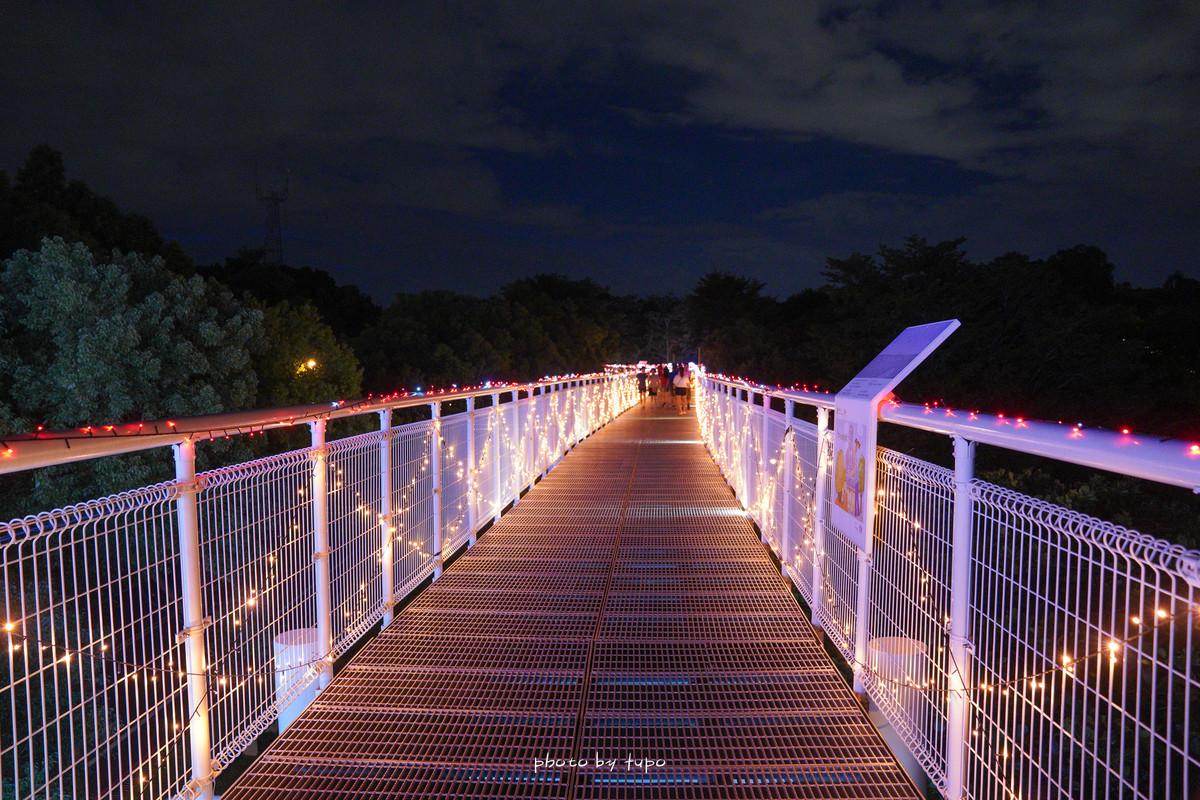 彰化景點》八卦山大佛風景區天空步道~浪漫破表的免費觀景台!夜景黃昏一次滿足,全台最美的燈會天空步道。