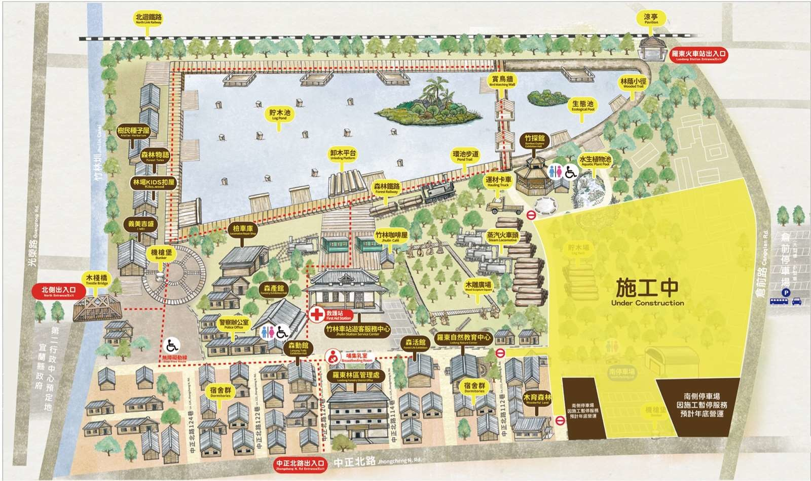 羅東林場・羅東林業文化園區園區地圖
