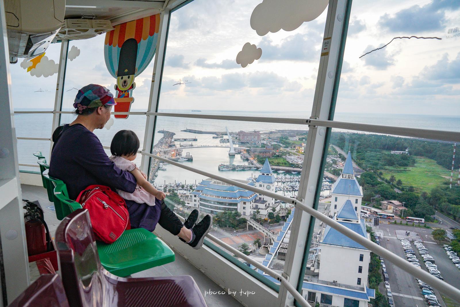 新北淡水景點》淡水情人塔,30樓高360度全視野景觀,山水海景一次滿足,透明座位絕佳賞景情侶約會必遊景點!