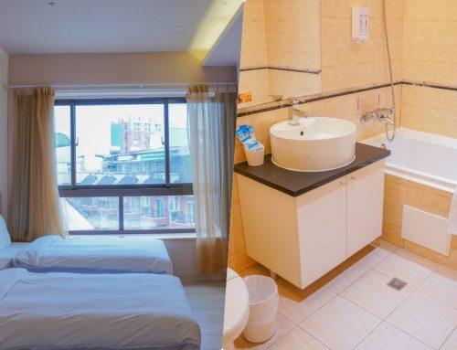 羅東夜市住宿推薦》安禾時尚旅館,羅東火車旁的平價住宿,可使用旅遊補助,到夜市五分鐘,房間乾淨有浴缸!