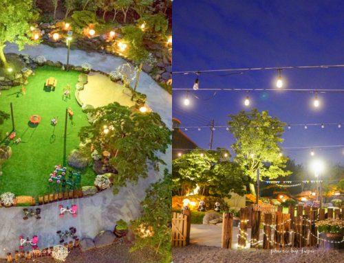 彰化田尾新景點|捌程小8親子cafe' (捌程親子園區):玩水、童話小屋、城堡旋轉溜滑梯、森林卡丁車、小朋友戶外健身房、親子多肉DIY,一秒飛日本的唯美景點~