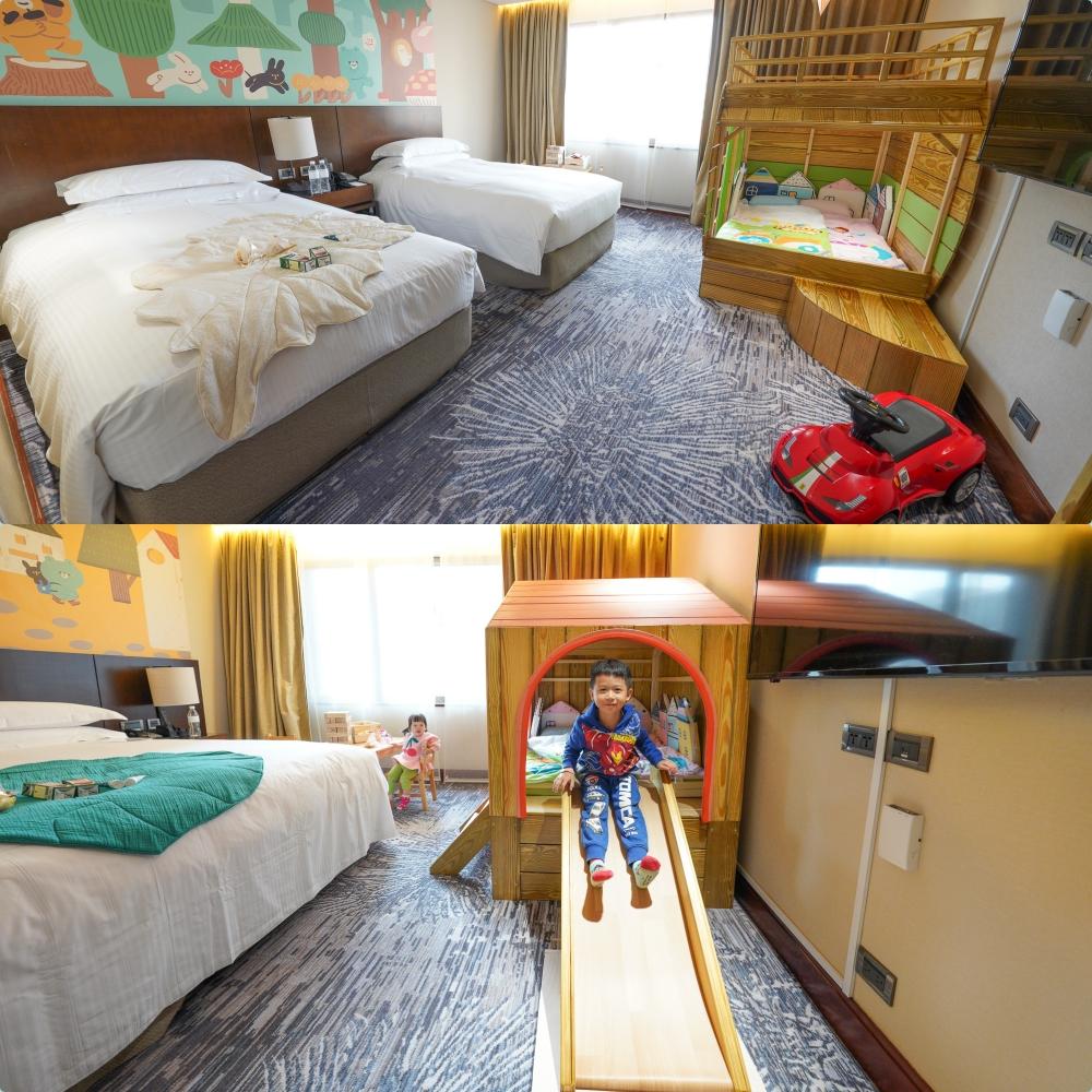 台北親子飯店》台北喜來登大飯店全新溜滑梯房~最新兩大主題親子房!手拉手樂園四大遊戲區:廚房、球池、積木、電玩,免費零食、十二廚早餐|親子住房|Sheraton Grand Taipei Hotel