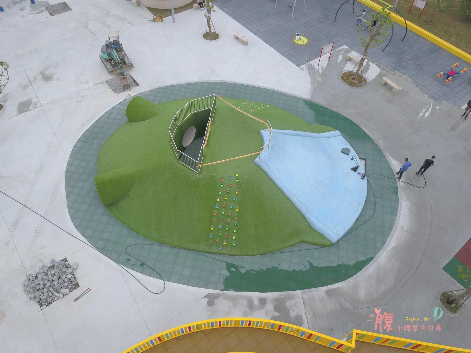 苗栗苑裡景點》灣麗親子公園,第一座在地農業主題特色公園!樹屋遊戲區.斗笠攀爬網.天空隧道.戲沙區,放風小孩的新景點