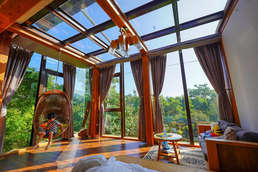 新北平溪住宿》幸福山行民宿:浪漫玻璃屋民宿,樹屋遊戲區,可以玩沙玩水還有大烏龜