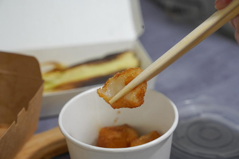 南港外送美食》零負評串燒!武侍酒日式居酒屋 特選雞肉串六串,炸黑糖麻糬軟糯好吃