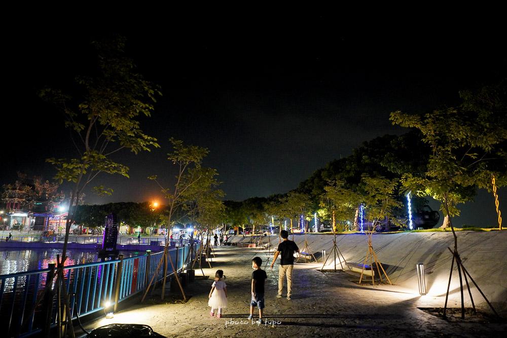 彰化新景點》二林舊社代安宮,水上廊道環湖廊道公園,彩虹橋,水管屋,親子遊戲區免費玩